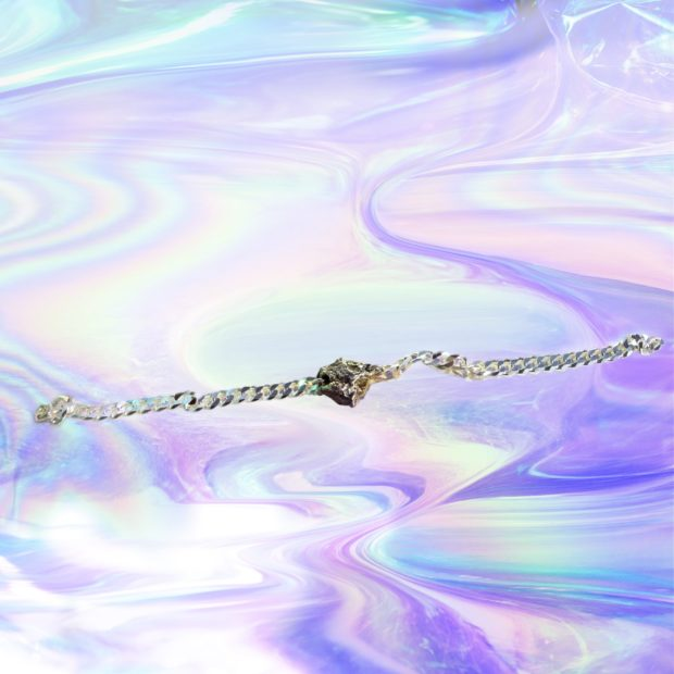 Gourmette météorite bracelet